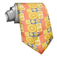 citrus slice neckties