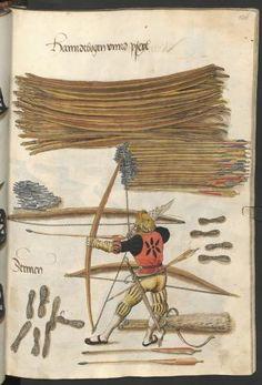 Kaiser Maximilian, Landsknecht, Longbow, Medieval Costume, Bow Arrows, Braveheart, Book Illustration, 16th Century, Archery
