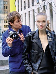 Chronicle of NY - Ansel Elgort & Anna Mila by Arthur Elgort for Vogue Espana March 2017 - Saint Laurent