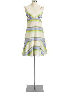 Summer Dresses for Under 30 Dollars: Striped Halter Sundress