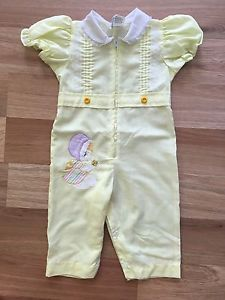 Vintage Yellow Baby Girl Jumpsuit 6 9 Months | eBay