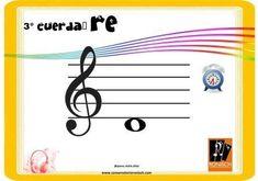 Cuerda RE, 3° cuerda del violín al aire. Musical, Map, Major Scale, Patterns, Location Map, Maps