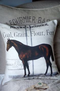 Equestrian Farmhouse Pillow Cover