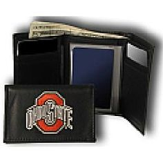 ZEP-PRO NCAA Ohio State Buckeyes Pebble Grain Leather Trifold Concho Wallet