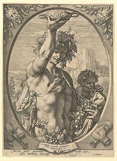 Bacchus Hendrick Goltzius (Dutch, Mühlbracht 1558–1617 Haarlem) Date: n.d. Medium: Engraving