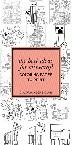 The Best Ideas for Minecraft Coloring Pages to Print . Coloring pages and printables for children of all agesThe Hellokids printables is not just enjoyable however has many benefits too. Tree Coloring Page, Coloring Pages To Print, Free Printable Coloring Pages, Free Coloring, Coloring Pages For Kids, Coloring Sheets, Coloring Books, Minecraft Coloring Pages, Printable Pictures