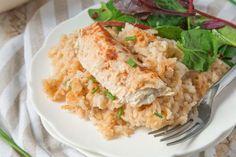 One Dish Chicken And Rice Bake Recipe - Genius Kitchensparklesparkle