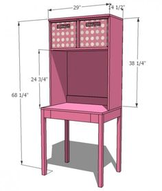 Cubby Desk and Hutch