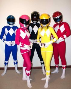 AWESOME Power Rangers Costumes yesss I want it for halloween! I haven\u0027t  been a power ranger since I was Gotta do it again
