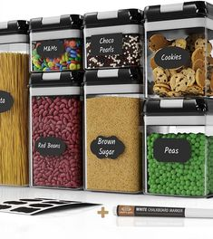 (This is an affiliate pin) Chefs Path Airtight Storage Container Large Food Storage Containers, Food Storage Rooms, Cereal Containers, Storage Room Organization, Container Organization, Kitchen Containers, Plastic Canisters, Kitchen Canisters, Kitchen Pantry