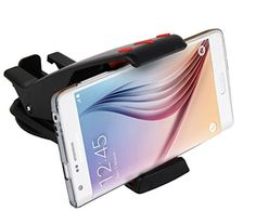 cool Cell Phone Holder for Car Dashboard - Sturdy Mobile Phone Car Mount with 360 Rotation by Abco Tech (Black/Red)