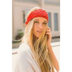 Lace Headband Red
