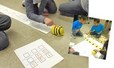 BeeBots. Strips with 15x15 cm squares, easy to make your own and so many games that students could code