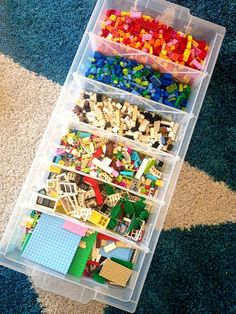 divided underbed storage box we have sorted the Lego -