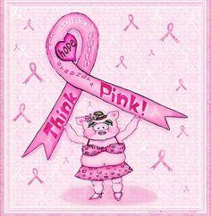 Pink ribbon pig Pink Ribbons