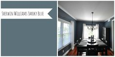 Sherwin Williams Smoky Blue......Website that shows some great colors and what they look like when applied