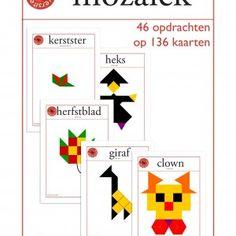 Een pakket met 136 voorbeeldkaarten in 3 verschillende uitvoeringen voor Klazien Smit mozaïek. Elk voorbeeld is een keer afgebeeld in kleur, zwart-wit met lijnen en zonder lijnen. Sommige kaarten hebben een extra opdracht, bijvoorbeeld het spiegelen van een half voorbeeld of het afmaken van een reeks. Print uit, maak een voorbeeldenboek en ga er morgen mee aan de slag.