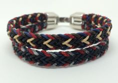 """Scoundrel"" an homage to Han Solo (Star Wars) and Killian Jones (Once Upon A Time) in a flat braid kumihimo bracelet."