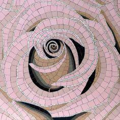 pink rose mosaic.