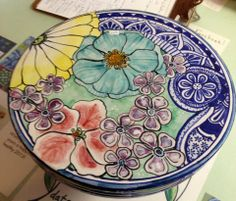 Damariscotta Pottery painted by Tessa