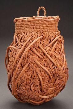 Willow Bark Basket - Untitled #717 - Jennifer Zurick