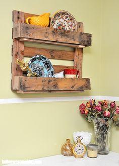 Make a Decorative Pallet Shelf - diycandy.com