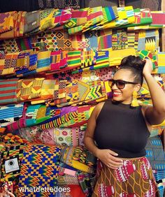 Fabulous #traveller of the day: @whatdettedoes    Tag #fabuloustravel to be featured    Good Day from glorious Ghana! We spent yesterday afternoon at the renowned Makola Market and saw everything from live chickens to car parts to evening gowns to these glorious fabrics. As a design lover these pieces of kente cloth were a dream