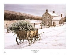 Bringing Home the Tree, Art Print by Dan Campanelli