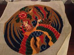 Vintage Abstract Needlepoint