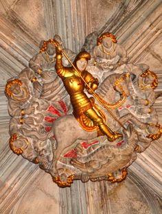 Relleu de Sant Jordi al sostre del Palau de la Generalitat. Barcelona…