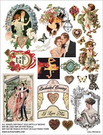 Romance Collage Sheet