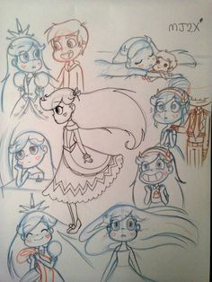 Sketches - Starco by MarionetteJ2X on DeviantArt