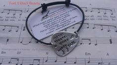 Hand Stamped 'Music Speaks Where Words Fail' Aluminium Guitar Pick Bracelet, Stamped,Metal Jewellery, Jewelry, Music, Guitar Plectrum, Pick