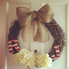 Initial wreath #diy