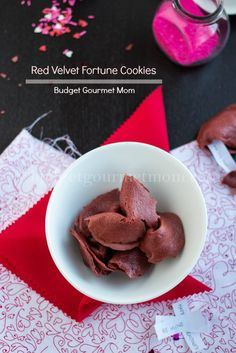 Red Velvet Fortune Cookies   Recipe via Budget Gourmet Mom