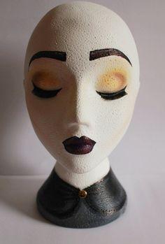 LUNA Polystyrene Custom painted wig head/ stand from CustomWigHeadZ