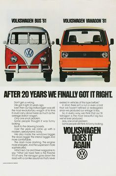 1981 Volkswagen Vanagon Ad | Alden Jewell | Flickr