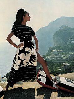 Marisa Berenson in Capri, 1968