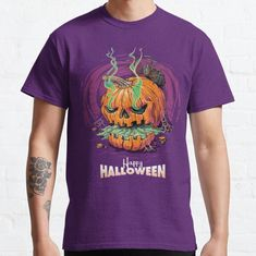 HALLOWEEN • Millions of unique designs by independent artists. Find your thing. Tshirt Colors, Wardrobe Staples, Female Models, Heather Grey, Classic T Shirts, Artists, Halloween, Tees, Unique