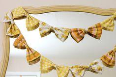 DIY bow garland
