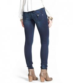 Tip: Pockets add dimension to a flat butt //  Vigoss New York Flap Pocket Skinny Jeans