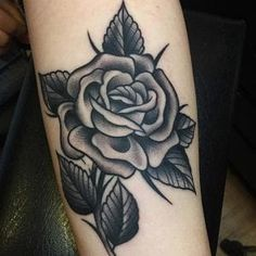 Black Ink Tattoos, Rose Tattoos, Tatoos, Black And Grey Rose Tattoo, Traditional Tattoo, Color Combos, Henna, My Style, Instagram