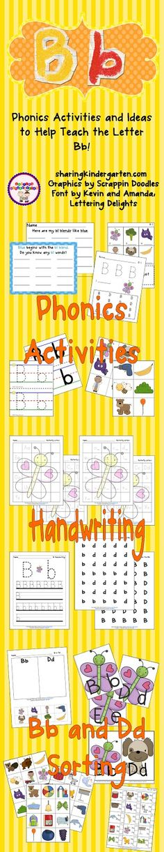 Letter Bb Activity Pack (from Sharing Kindergarten)