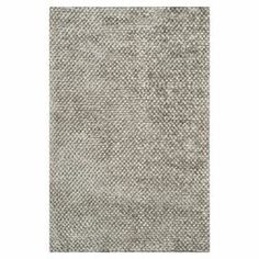 """A stylish foundation for your living room or master suite, this hand-woven rug showcases a textured pile and silver hue.   Product: RugConstruction Material: Polyester and cottonColor: SilverFeatures: Textured pileHand-wovenPile Height: 0.63""""Note: Please be aware that actual colors may vary from those shown on your screen. Accent rugs may also not show the entire pattern that the corresponding area rugs have.Cleaning and Care: Professional cleaning recommended"""