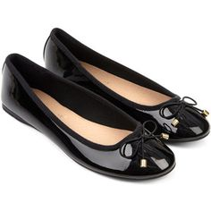 Accessorize Patent Bow Ballerina Shoes