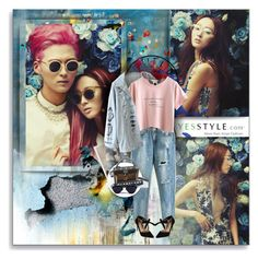 """YesStyle- BoyfriendStyle"" by shinee-pearly ❤ liked on Polyvore featuring Leftbank Art, ESPRIT, Trendedge, DaBaGirl, Una-Home, MBLife.com, jeans, boyfriend and yesstyle"