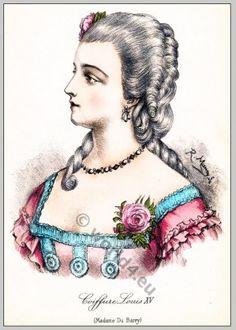 Marie Jeanne, comtesse du Barry. Coiffure Louis XV.