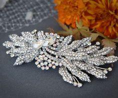 ROYANNA Super EyeCatching Bridal Hair Comb Art by GlamorousBijoux, $84.00
