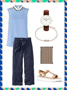 What to wear to work: das perfekte Büro-Outfit mit Leinenhose. Super luftig für den Sommer aber man ist trotzdem angezogen, daher der perfekte Office Look.