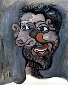 Head of a Bearded Man, 1940 Pablo Picasso. Head of a Bearded Man, 1940 Pablo Picasso, Art Picasso, Picasso Paintings, Oil Paintings, Picasso Portraits, Picasso Drawing, Indian Paintings, Landscape Paintings, Landscapes